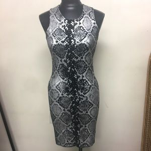 Parker Metallic Snakeskin Print Dress